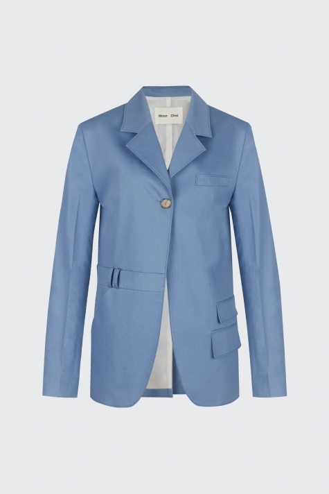 [40% OFF] Light blue oversized trousers blazer
