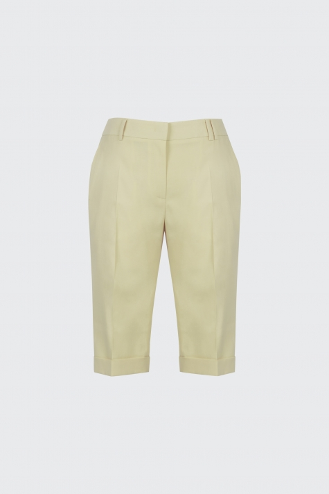 [40% OFF]Lemon cuffed slim-fit shorts