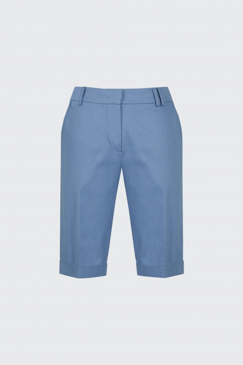 [55% OFF] Light blue cuffed slim-fit shorts